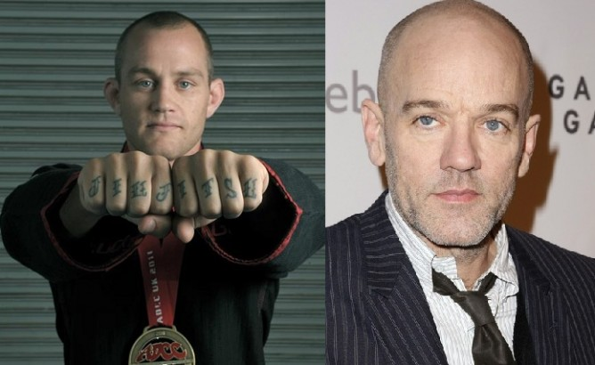 Jeff Glover and Michael Stipe (REM)