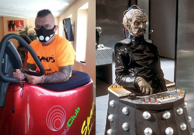 Polish BJJ legend Mariusz Linke and Davros the leader of the Daleks