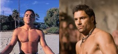 Rickson Gracie and Crixus from Spartacus