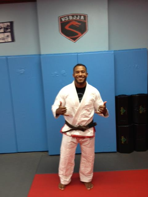 """Sensei Julio Rivera, owner of Omni Martial Arts NYC and an affiliate member of Vitor """"Shaolin"""" Ribeiro, wearing his """"The Gentleman"""" suit!!"""
