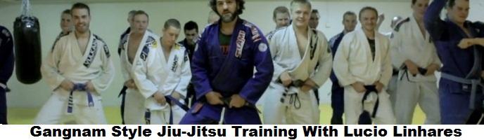 Gangnam Style Jiu-Jitsu Training With Lucio Linhares