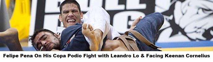 Brown Belt World Champ, Felipe Pena On His Copa Podio Fight with Leandro Lo, His Nickname and Facing Keenan Cornelius