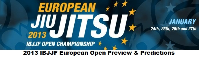 2013 IBJJF European Open Championship Preview & Predictions