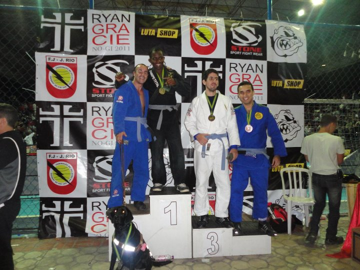 Nicolas winning Silver at a tournament in Rio