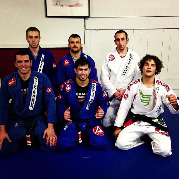 Magid training with Otavio Sousa