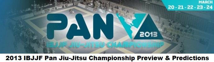 2013 IBJJF Pan Jiu-Jitsu Championship Preview & Predictions