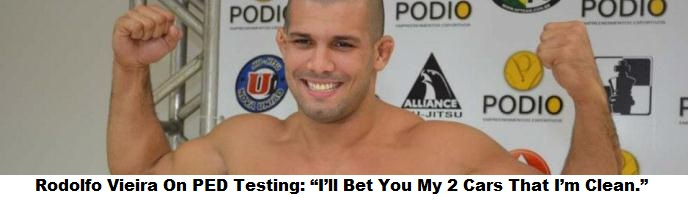 """Rodolfo Vieira To Those That Doubt That He Is Steroid Free: """"I'll Bet You My 2 Cars That I'm Clean."""""""