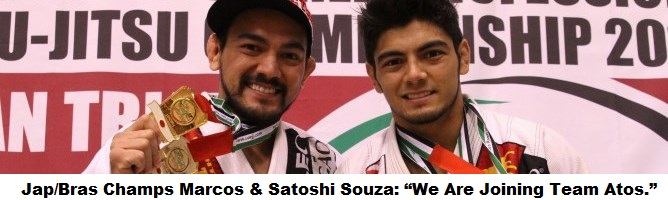 "Japanese/Brazilian Champs Marcos & Satoshi Souza: ""We Are Joining Team Atos."""