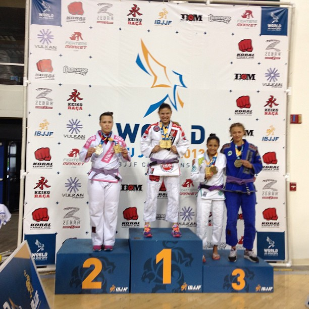 Purple belt absolute: Marysia Malyjasiak (Poland) silver, and Germany's Charlotte Von Baumgartner takes bronze
