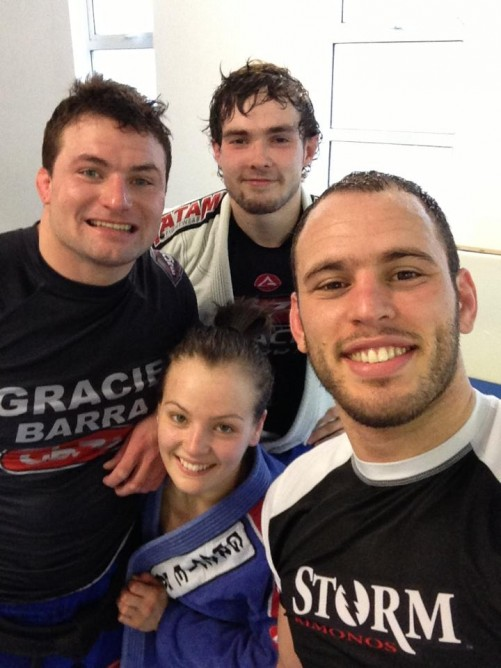 Vanessa with Instructor Gareth Neale and Victor Estima