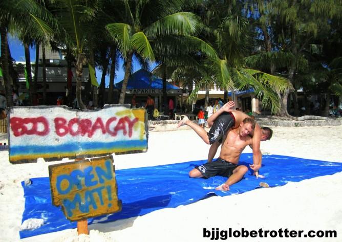 Christian training on the beach in Boracay, Philippines