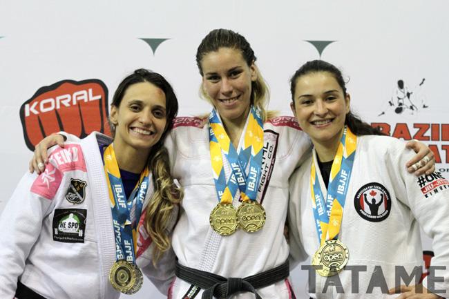 Luiza Monteiro winning Gold. Photo: Tatame