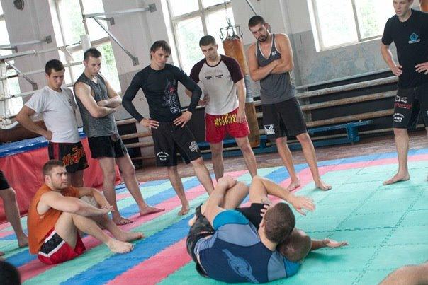 Paul teaching No Gi in Ukraine