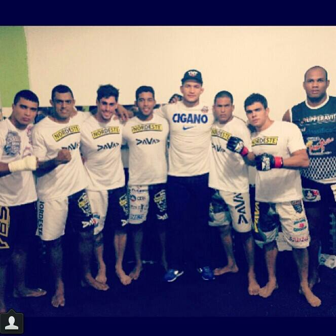 With his fight team that includes Junior Dos Santos