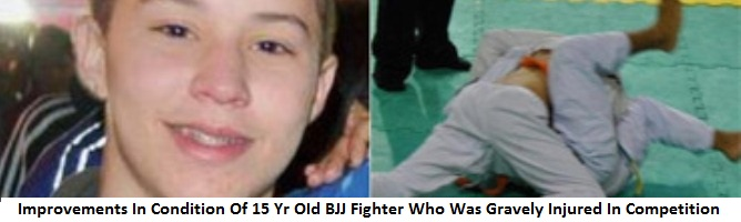 Improvements In Condition Of 15 Yr OId Jiu-Jitsu Fighter Who Was Gravely Injured In Competition In Brazil