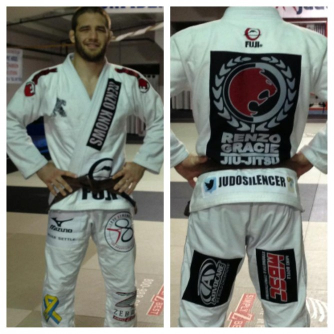 Travis's BJJ kimono for the Copa Podio