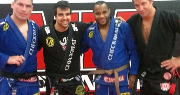 Cormier was promoted straight to brown belt by Leandro Vieira froim Checkmat.
