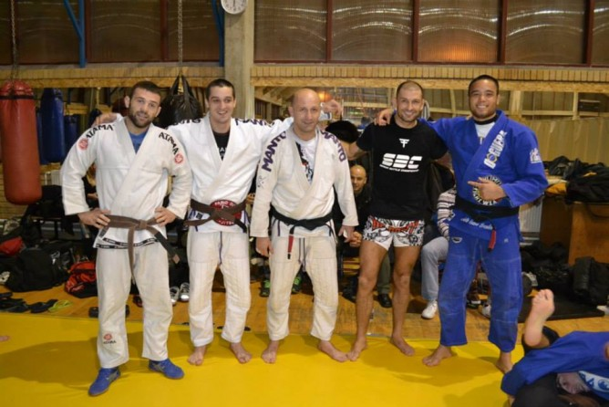 Seminar instructors: From L to R: Aleksandar Rajacic, Mateja Valjarevic, Nenad Latincic, Damir Mihajlovic, Guillaume Huni