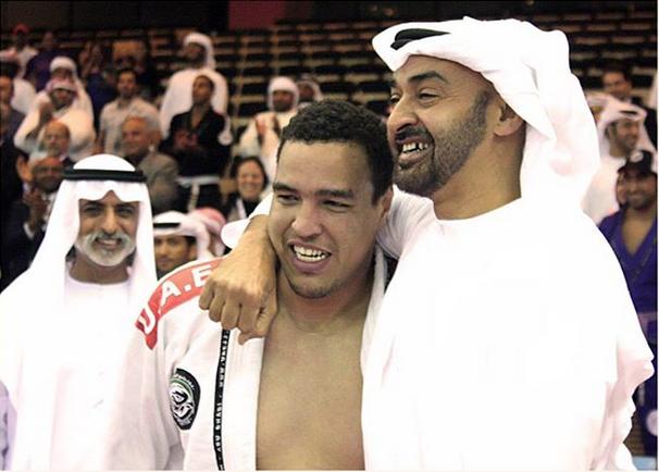 Faisal with UAE ruler Sheikh Mohamed bin Zayed