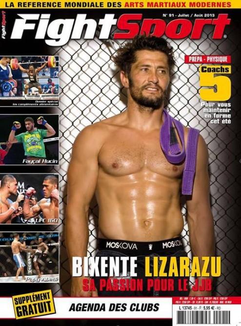 Lizarazu on the cover of France's Fightsport magazine