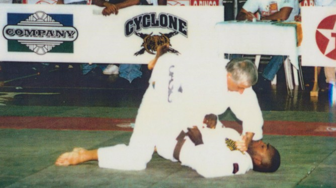 Guy Mialot from the French team competing at brown belt