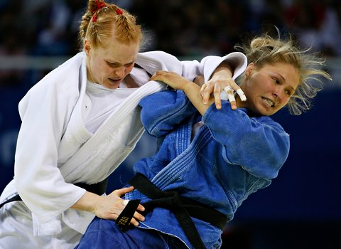 Ronda Rousey took bronze in the 2008 Olympics in judo
