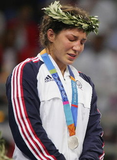Sara Mcmann took Silver at the 2004 Olympics in Wrestling