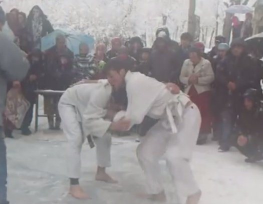 (Video) Grappling Tournament In The Snow In Tajikistan