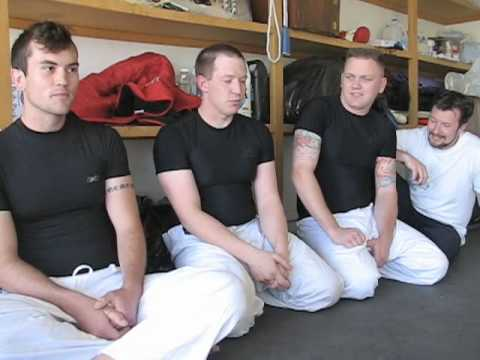Gracie online university students learning in their Gracie garage