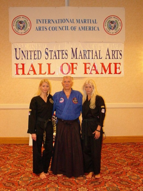 Ana, Ljuba and Sanja Vracarevic at the martial arts hall of fame