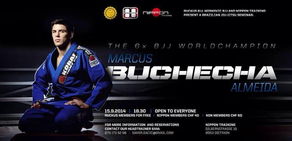 Marcus Buchecha Seminar In Zurich, Switzerland, September 15th