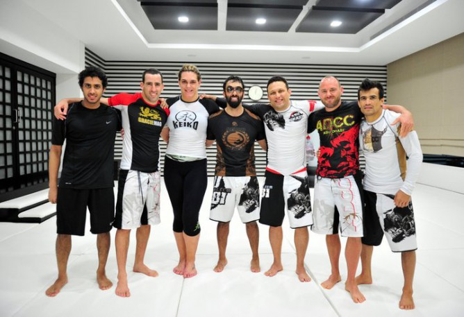 Sheikh Tahnoon training with Jiu-Jitsu's elite