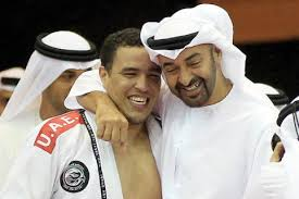 Sheikh Tahnoon's older broter, Sheikh Mohamed with Faisal Alketbi