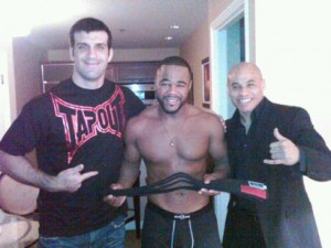 Rashad Evans recived a 'No GI black belt' from Rolles Gracie