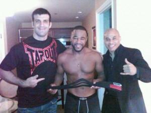 Rashad Evans recived a 'No GI black belt' from Rolles Gracie