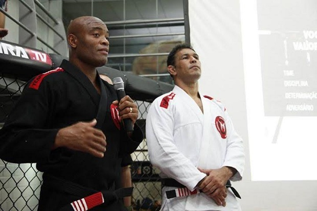 Anderson Silva Receives 3rd Degree on Black Belt from Rodrigo Minotauro