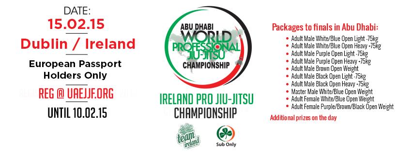Ireland National Pro Jiu-Jitsu championship, 10 Travel Packages