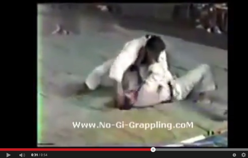 Rickson by Armbar- Rare Competition Footage of Ponytail Wearing Rickson Gracie