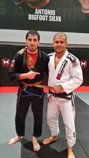 Abdulrakhman with his professor Rafael Haubert