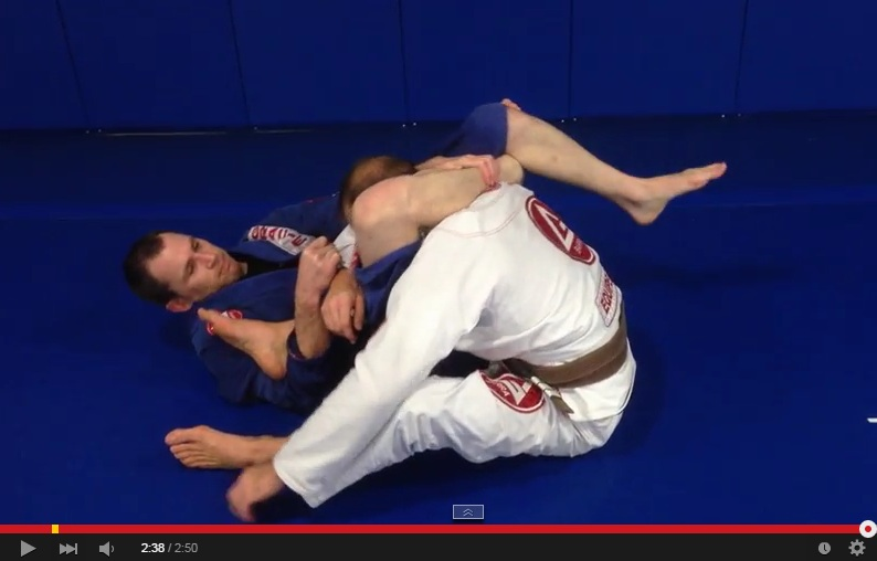 Submit from the 50/50 Position: The Crazy Leg In Triangle