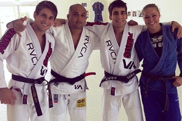 Watch: Ronda Rousey Rolls with BJ Penn in the Gi