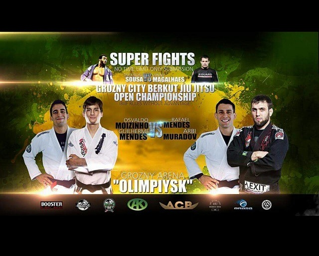 FREE LIVE STREAM, No Gi Superfights in Chechnya: Mendes Bros, Vinny, Calasans etc