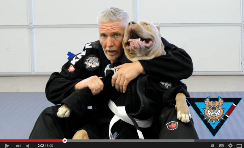 Funny Video of BJJ Practitioner Grappling with Pitbull Draws Hateful Comments from Non Grapplers