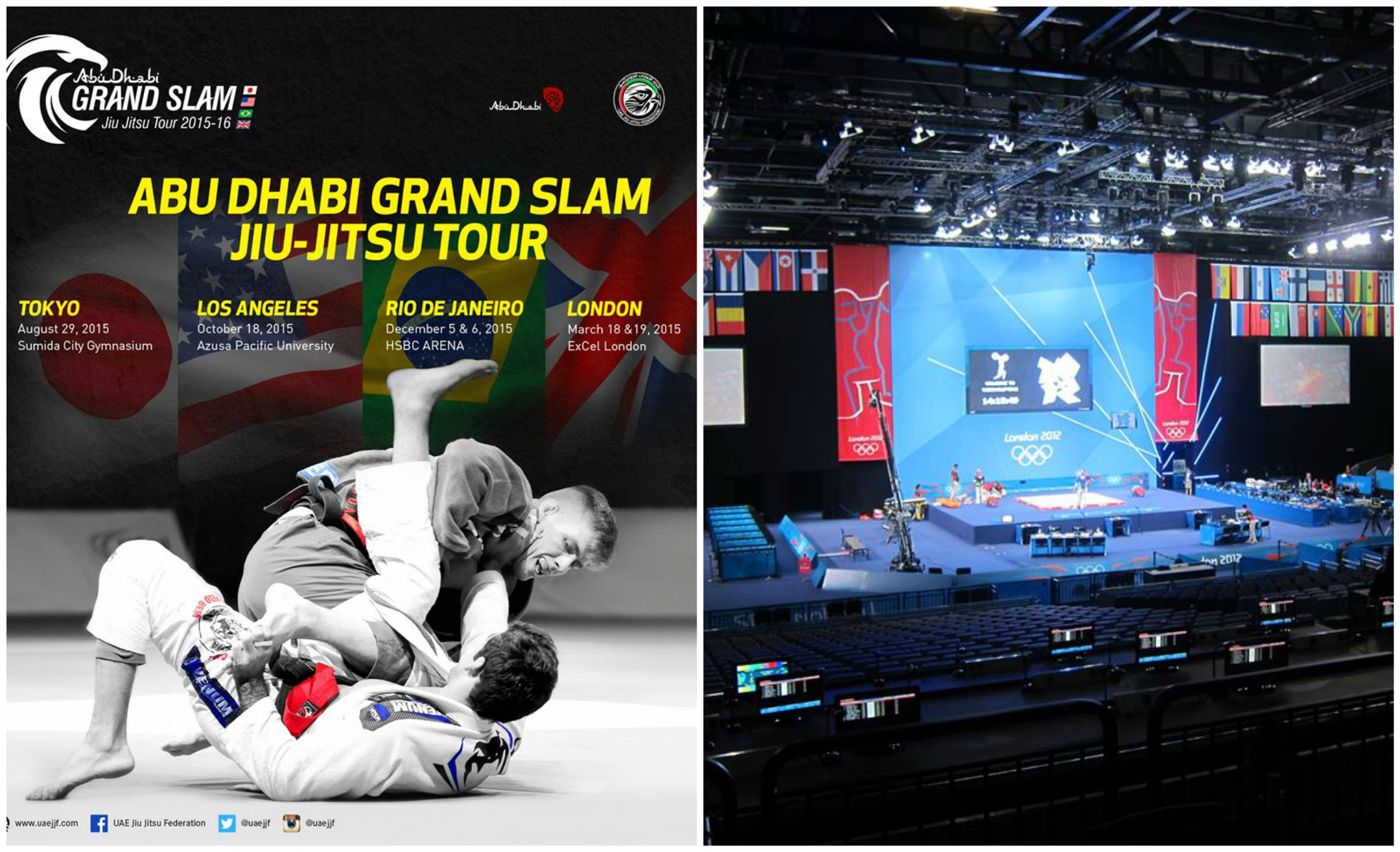 Abu Dhabi Grand Slam Tour: London Event Set for 19/20th March 2016; Big Cash Prizes
