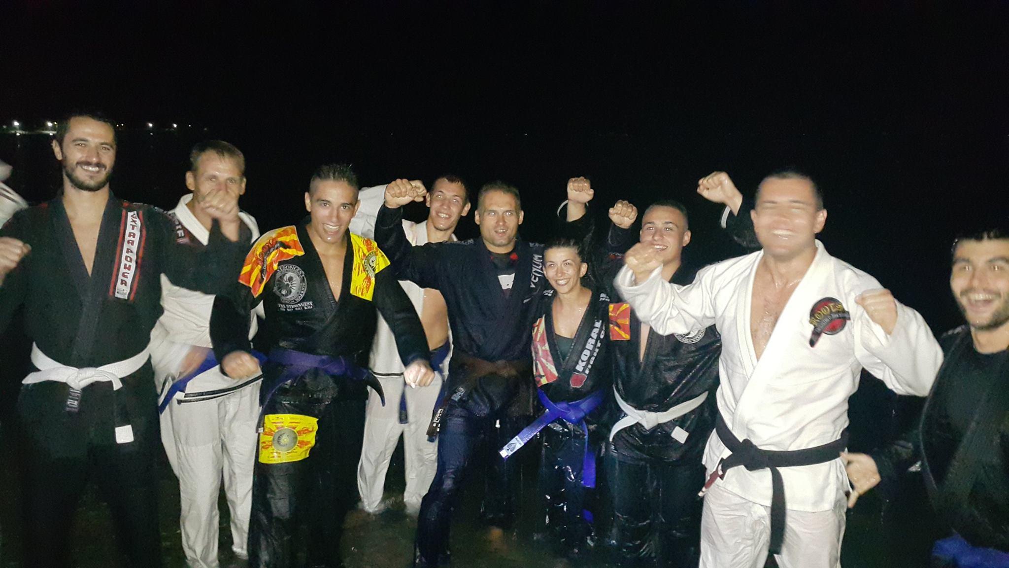 Belt Promotion During BJJ seminar in Ohrid, Macedonia