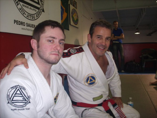 The author Bill Jones with his instructor Pedro Sauer
