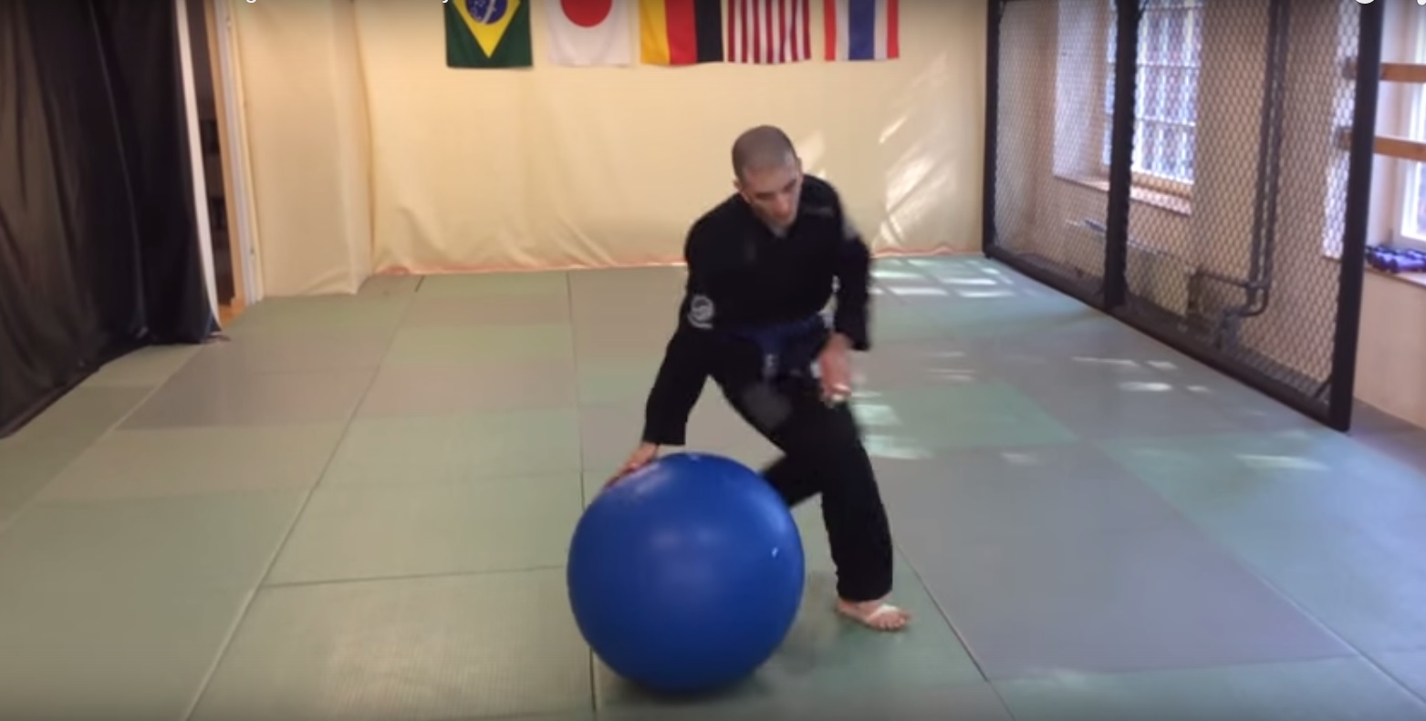 Basic Balance & Passing Drills for Jiu-Jitsu Using Physio Ball