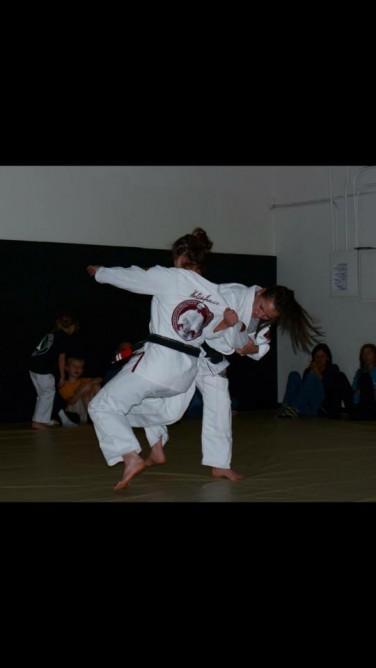 Teen Gracie University Blue Belts Teach Jiu-Jitsu Wearing