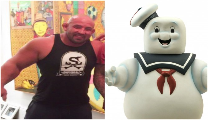 Orlando sanchez and Marshmallow man