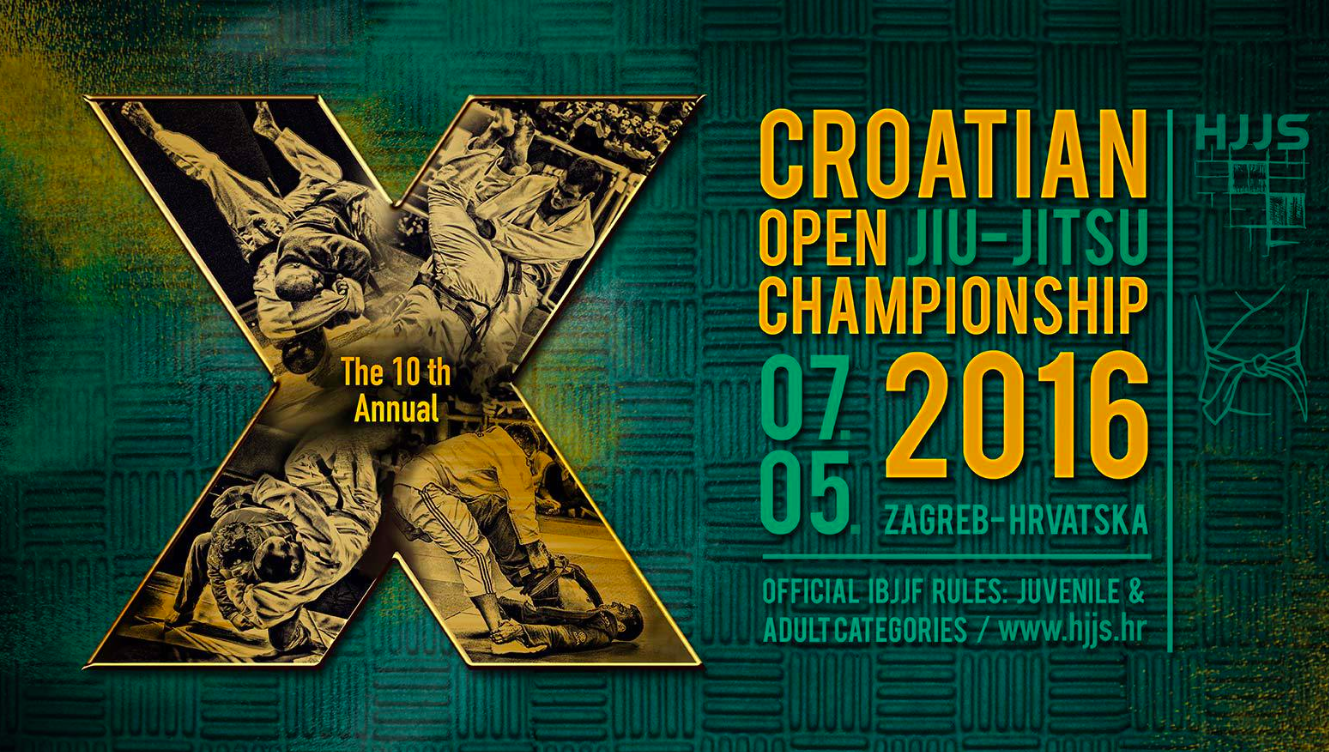 10th Annual Croatian BJJ Open, May 7th in Zagreb